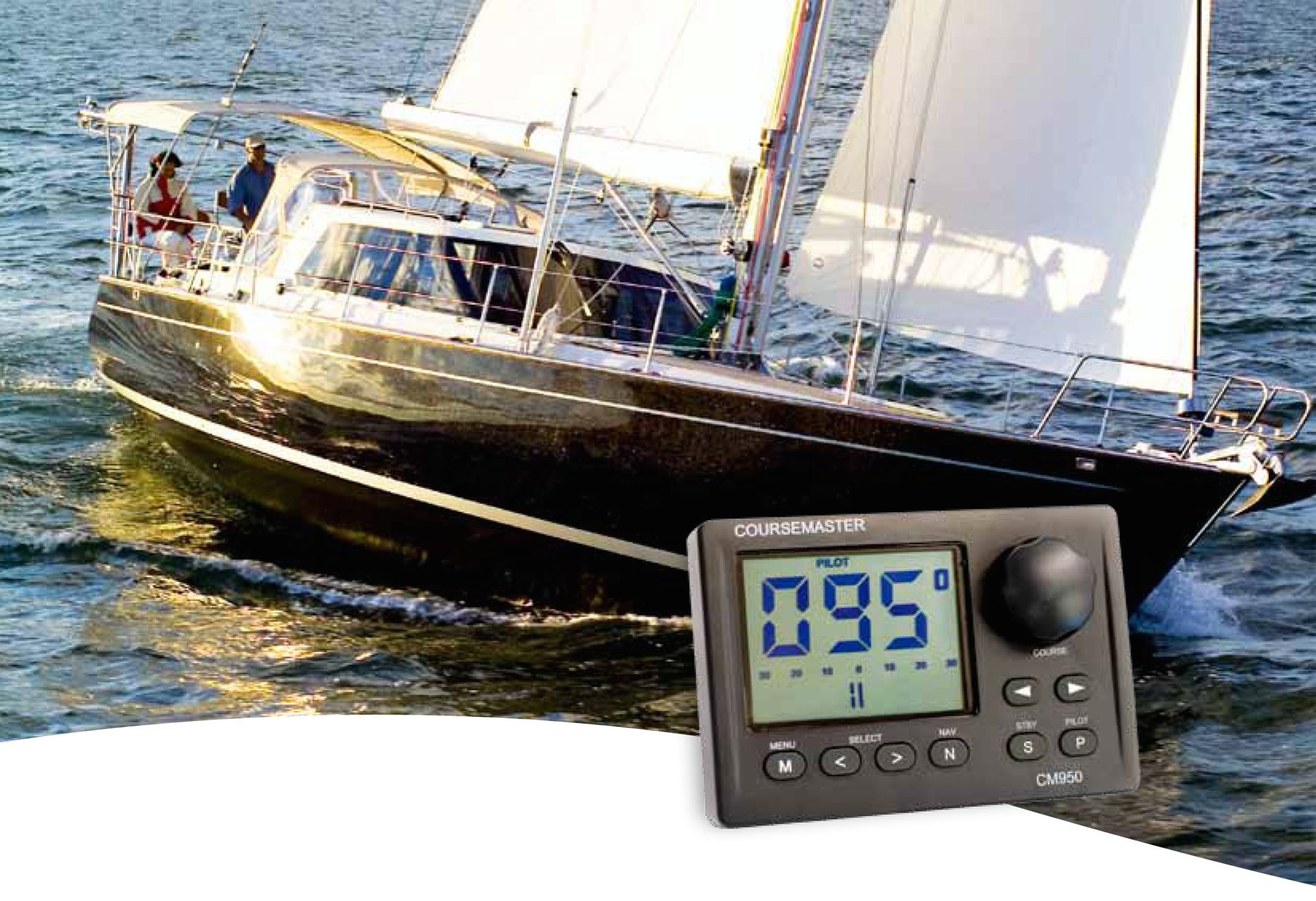 CM950 with yacht